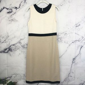 St John santana knit colorblock dress Sz 6